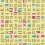 Moda Soho Chic - 2944 - Green, Teal & Plum Square Geometric Print - 17744-11 Cotton Fabric
